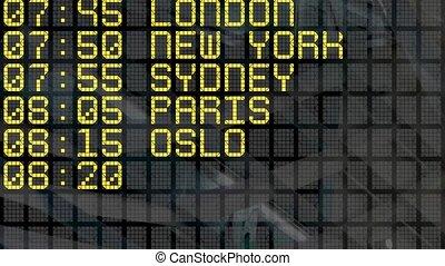 4K - Airport Departure Board