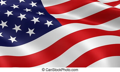 4K American flag - American flag in the wind. Part of a...