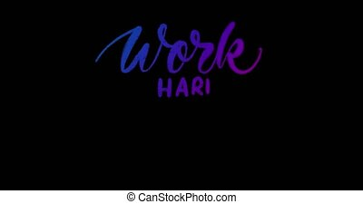 4K Animated hanadwritten motivational quote on the black ...