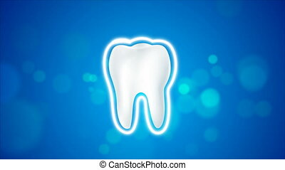 4K animation clean and dirty tooth for Whitening and...