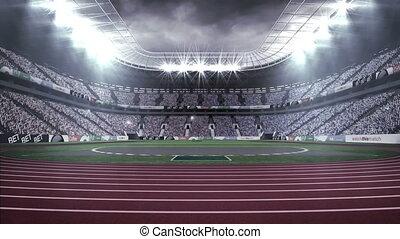4k, atletyka, palczasto rodzony, video, stadion