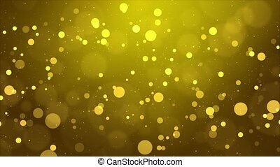 4K Beautiful Bokeh Floating Golden Dust Particles with Flare...