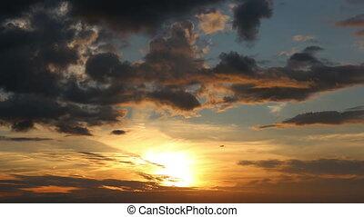 4k beautiful sunset
