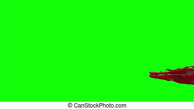 4k Blood Burst Slow Motion (Green Screen) 169 - Nice and...