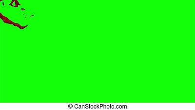 4k Blood Burst Slow Motion (Green Screen) 73