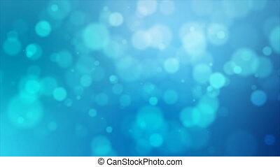 4K Blue abstract abstract background with blur bokeh and...