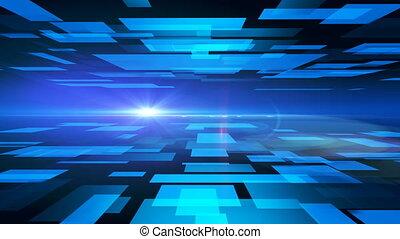 4k  blue squares