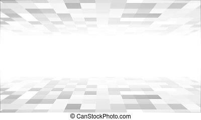 4K blue tech grid lines particles background is a ...