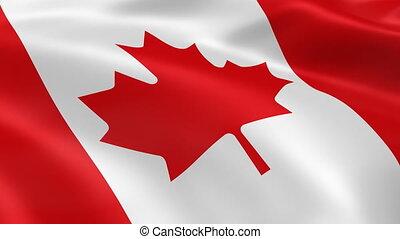4K Canadian flag