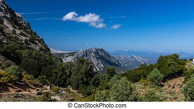 4k canyon view timelapse - gorroppu canyon on sardinia