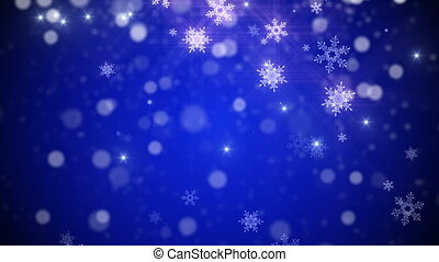 Christmas, new year Loop background in Blue color