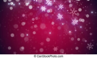 Christmas, new year Loop background in Red color