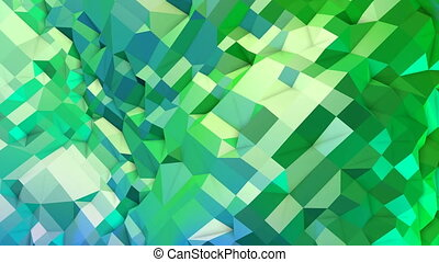 4k clean geometric animated background in loop, low poly...