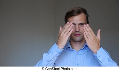 4k  close up   portrait of a young man  body language and gestures