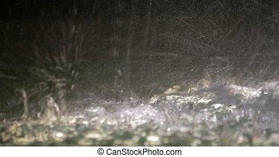 4K Closeup of splashing water
