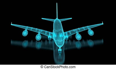 4K Commercial Aircraft Mesh