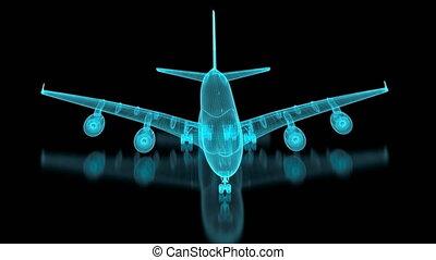 4k, commercieel vliegtuig, maas