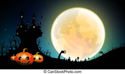 4K Dark abstract background Halloween Animation moving Full...