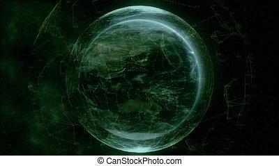 4K Digital Earth - Digital Earth - Visualization of modern...