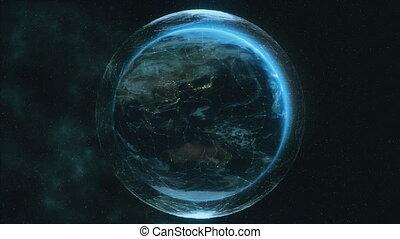 4K Digital Earth. Seamless loop. - Digital Earth -...