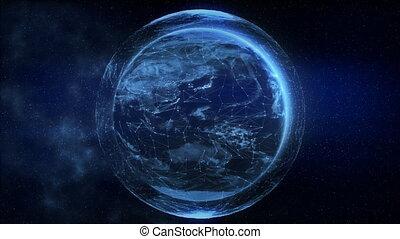 4K Digital Earth. Seamless loop.