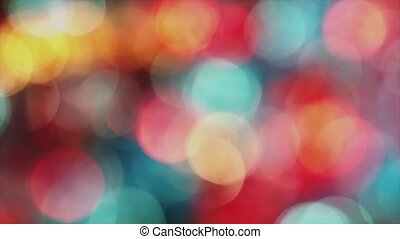 4K Distant Out Of Focus Bokeh Colorful