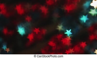 4K Distant Out Of Focus Star Bokeh Red On Flicker
