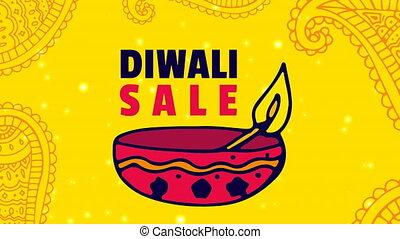 4k, diwali, fond, vente, numérique, contre