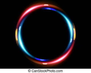 4K double ring blue red