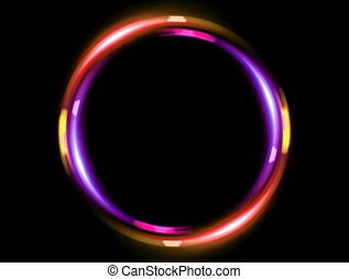 4K double ring pink orange