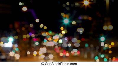 4k, droga, miasto, noc, handel
