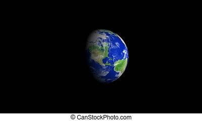 4K Earth Zoom: Oklahoma USA