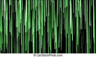 4K Falling glowing lines.