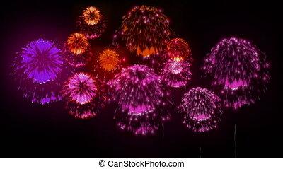 4K festival firework. many different versions. number 3.