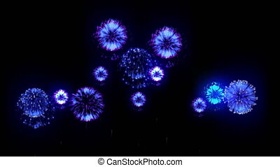 4K firework. Holidays fireworks. CG, 3d render. Version 19....