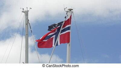 Flag Of Norway, Blue Sky