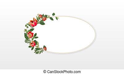 4k, fleur, fond, blanc, cadre, contre