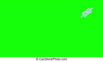 4K. Flying Snowflake. Green Screen. Seamless Looping. Ultra ...