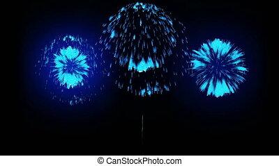 4k, fogo artifício, experiência., coloridos, fireckrackers, em, feriado, night., versão, 2.