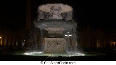 4K, Fontana Di Fiumi, Rome, Vatican, Italy - Fontana Di...