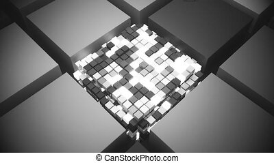 4k Futuristic Chipboard and CPU. Seamless Looping.