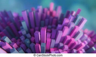 4K Futuristic Molecular Structure. Seamless Loop