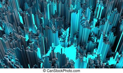 4K Futuristic Multi Core Processing Concept. Seamless loop.