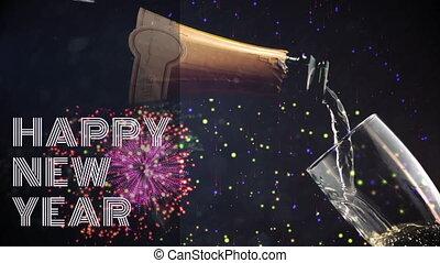 4k, glas, jaarwisseling, champagne, eva, geregen
