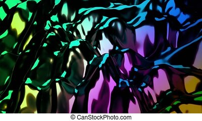 4K Glimmering Abstract Science Fiction Background. Seamless...