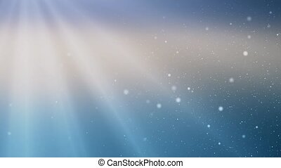 4K Global Blue Soft Clean White light rays Loop particles animation.