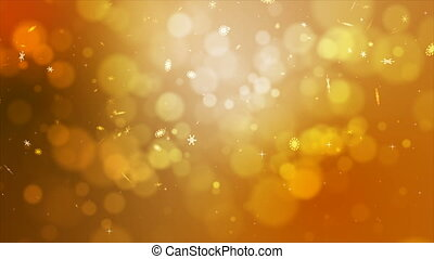 4K gold abstract abstract background with snow flake and...