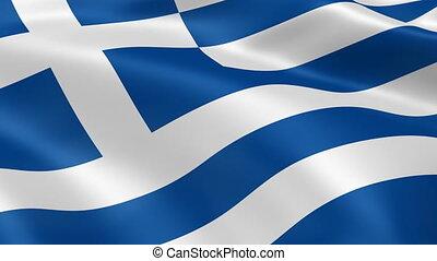 4K Greece Flag