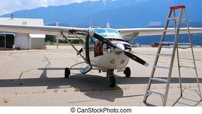 4k, hangar, aérospatial, moteur, avion