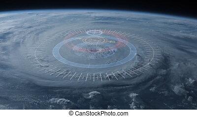 4K Hurricane Tracking Concept.